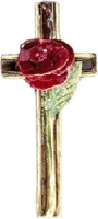 "Keramikkreuz ""RED ROSE\"