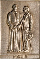 "Bronze Relief ""Adolph Kolping"", Format: 8 x 6 cm"