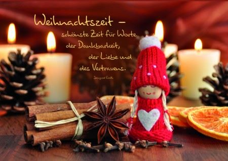 karte weihnachtszeit mit spruch von irmgard erath. Black Bedroom Furniture Sets. Home Design Ideas