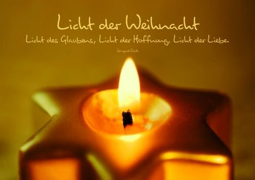 doppelkarte licht der weihnacht mit spruch licht des. Black Bedroom Furniture Sets. Home Design Ideas