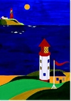 "Blanko Buch ""Otto, Renate: Lighthouse"", Format: 12,5 x 23,5 cm"