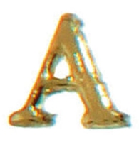 """Wachsbuchstabe gold 8 mm """"A"""" VPE 10 St."""