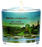 "LichtMoment ""Martin Luther"" mit Text: Martin Luther 2017 500 Jahre Reformation, Format: 6 cm."