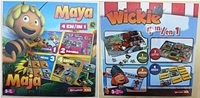 "Spiel ""4 in 1"" Maya/Wickie sort., CE 3+, Puzzle-Domino-Memo-Lotto"